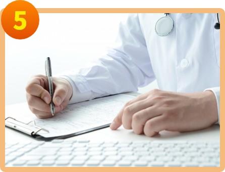 医師による診断書の作成
